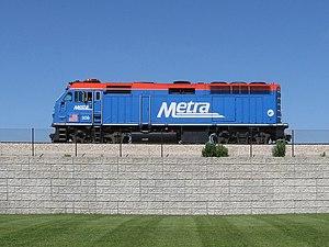 Diesel–electric transmission - This Metra EMD F40PHM-2 locomotive uses a diesel–electric transmission designed by Electro-Motive Diesel