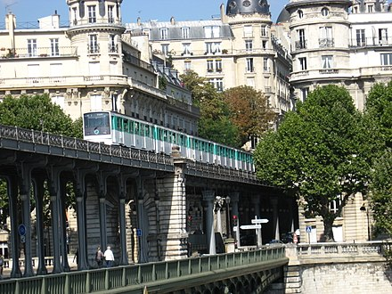 The Paris Metro is the busiest subway network in the European Union. Metro Paris 2008 08.jpg