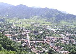 Panoramic shot of the town
