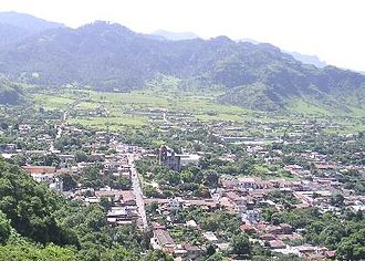 Malinalco - Panoramic shot of the town