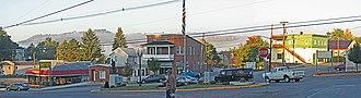 Meyersdale, Pennsylvania - Image: Meyersdale Dawn at traffic circle 1 (4080993129)
