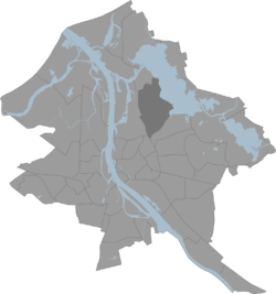Location of Mežaparks in Riga.