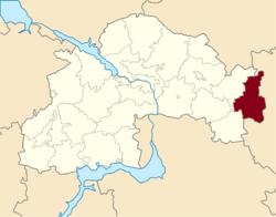 Vị trí của huyện Mezhova trong tỉnh Dnipropetrovsk