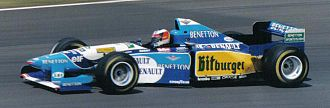 Michael Schumacher - Schumacher driving for Benetton at the 1995 British Grand Prix