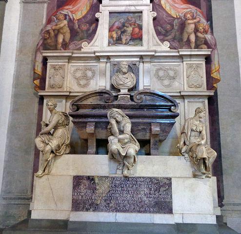 Гробница Микеланджело Буонарроти в Санта-Кроче