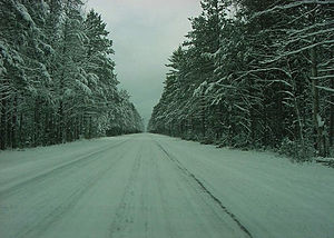H-13 (Michigan county highway) - H-13/FFH-13 during the winter