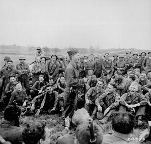 Mickey Rooney - Rooney entertains American troops in Germany, April 1945