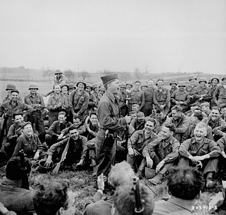 Mickey Rooney - Rooney entertains American troops in Germany, April 1945