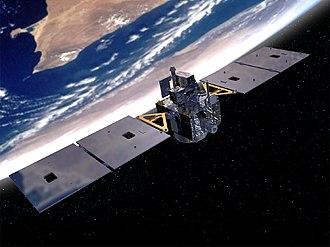 MightySat-2.1 - MightySat II in orbit (artist's impression)