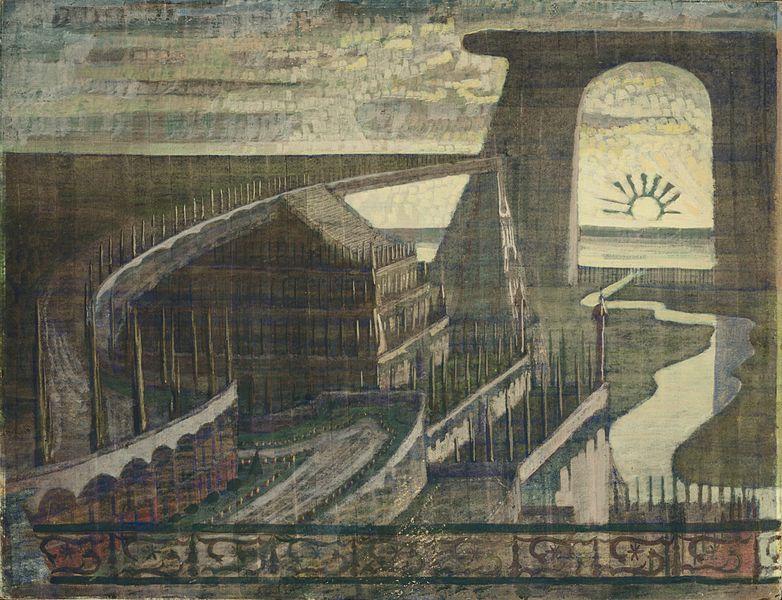 File:Mikalojus Konstantinas Ciurlionis - FORTRESS (FORTRESS FAIRY TALE) - 1909.jpg