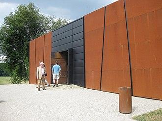 Mikulčice Archaeopark - Exhibition pavilion built over 2nd Church