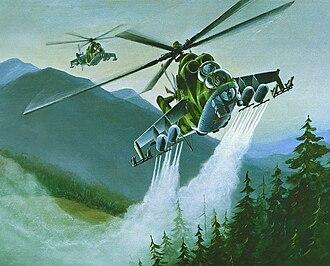 Soviet Military Power - Image: Mil Mi 24 DIA