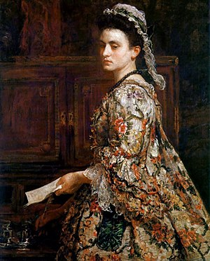 Esther Johnson - Imaginary portrait of Vanessa by John Everett Millais