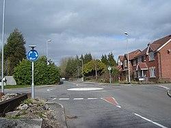 Mini-roundabout, Langstone, near Newport. - geograph.org.uk - 360169.jpg