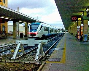 Cagliari railway station - Image: Minuetto Diesel Cagliari