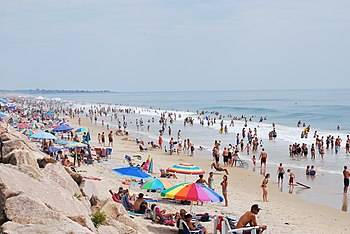 Misquamicut State Beach is a state park that stretches 7 miles from Weekapaug in the east westward to Watch Hill. Misquamicut is in southern Washington County and is part of the town of Westerly.