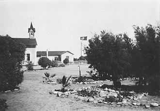 Swakopmund - Mission Church and building of the Rheinische Missionsgesellschaft  in 1938