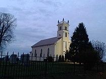 Mitchells Presbyterian Church at dusk, close up.jpg