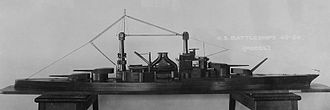 "16""/50 caliber Mark 2 gun - Model of the South Dakota-class battleship, including 12 16""/50 Mark 2 guns."