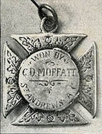 Charles Douglas Moffatt - Medal awarded Moffatt after the first Primera División title ever won with St. Andrew's, 1891.