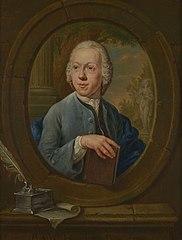 Portret van P.A. Wakkerdak, zelfportret(?) (1729-1774)