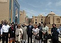 Mohd. Hamid Ansari visiting at Shah-i-Zinda Complex, in Samarkand, Uzbekistan. Smt. Salma Ansari, the Minister of State (Independent Charge) for Environment and Forests.jpg