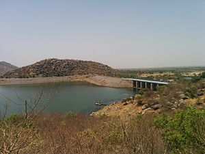 Saraswati River, Gujarat - Mukeshwar dam on Saraswati River