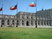 O Palácio da Moeda em Santiago
