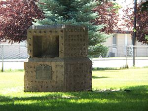 Ammon, Idaho - A monument erected in 1937 by local Boy Scouts honors the early settlers of Ammon