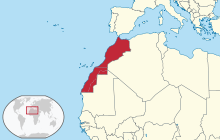 Morocco in its region (all claimed).svg