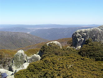 Namadgi National Park - View from the top of the Mount Ginini