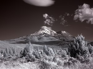 Mount Shasta, is located at the southern end of the Cascade Range in Siskiyou County, California LCCN2013632781.tif