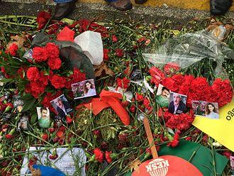2015 Ankara bombings - Flowers
