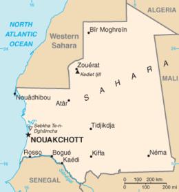 Mauritania - Mappa