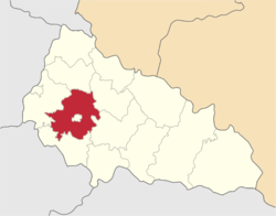 Location of Mukačeves rajons