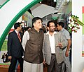 Mukhtar Abbas Naqvi and the Minister of State for Power, Coal, New and Renewable Energy and Mines (Independent Charge), Shri Piyush Goyal visiting after inaugurating the Hunar Haat.jpg