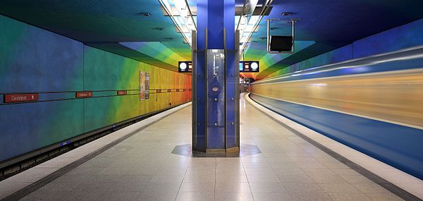 Munich subway station Candidplatz