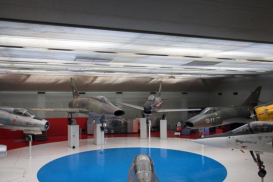 Several aircraft in the Museum of Air and Space(Musée de l'air et de l'espace, Le Bourget, France)