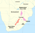 Mzilikazi's migration from Zululand to Matabeleland, 1823 to 1838.png
