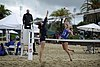 NCAA beach volleyball match at Stanford in 2016 (26382189282).jpg