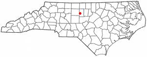 Alamance, North Carolina - Image: NC Map doton Alamance