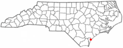 Location of Ogden, North Carolina