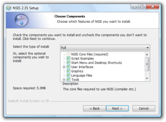Nullsoft Scriptable Install System - Image: NSIS screenshot