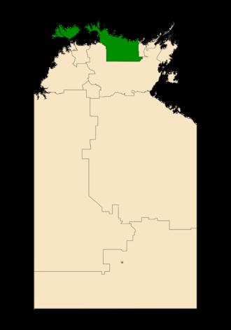 Electoral division of Arafura - Arafura in the Northern Territory