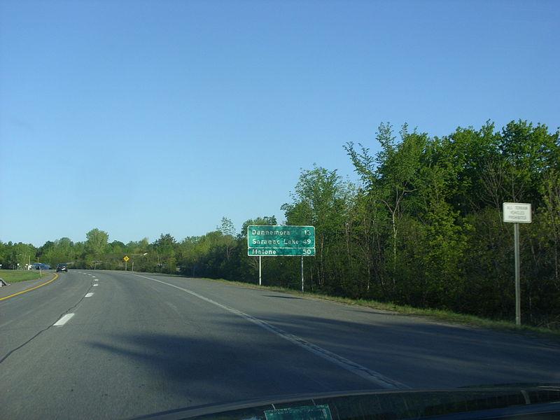 File:NY 374 Dannemora 13 miles.jpg