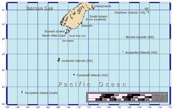 Localización de las islas Antípodas