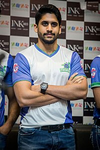 Naga Chaitanya at CBL Telugu Thunders team jersey launch.jpg