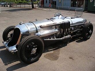Napier-Railton - The Napier-Railton, before a test run at Brooklands Museum, Weybridge