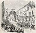 Napoléon III et l'impératrice Eugénie entrée à Dijon en 1860.jpg