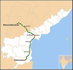 Narayanadri Express Route map.jpg